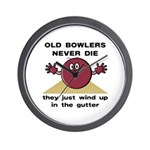 Old Bowlers Never Die Wall Clock