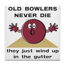 Old Bowlers Never Die Tile Coaster
