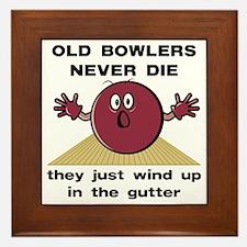 Old Bowlers Never Die Framed Tile