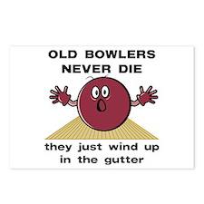 Old Bowlers Never Die Postcards (Package of 8)