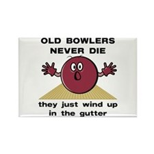 Old Bowlers Never Die Rectangle Magnet
