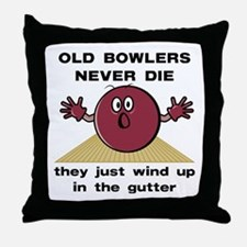 Old Bowlers Never Die Throw Pillow