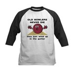 Old Bowlers Never Die Kids Baseball Jersey