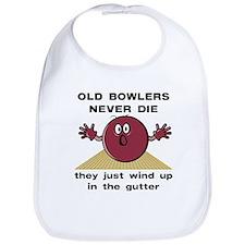Old Bowlers Never Die Bib