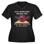 Old Bowlers Never Die Women's Plus Size V-Neck Dar