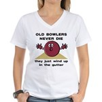 Old Bowlers Never Die Women's V-Neck T-Shirt