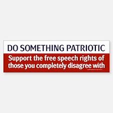 Do Something Patriotic Bumper Car Car Sticker