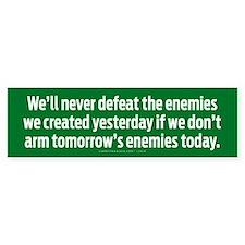 Defeating Enemies Bumper Bumper Sticker