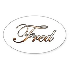 Gold Fred Decal
