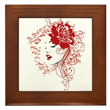 red lips Framed Tile