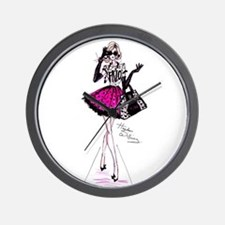 fashion girl Wall Clock