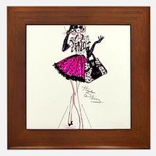 fashion girl Framed Tile