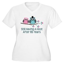 65th Anniversary Owls Plus Size T-Shirt