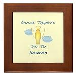 Good Tipper Angel Framed Tile