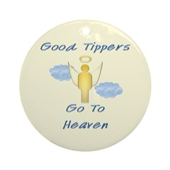 Good Tipper Angel Ornament (Round)