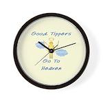 Good Tipper Angel Wall Clock