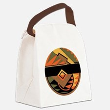 Vintage Art Deco Canvas Lunch Bag