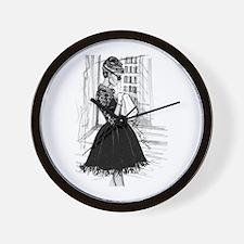 fashion sketch Wall Clock