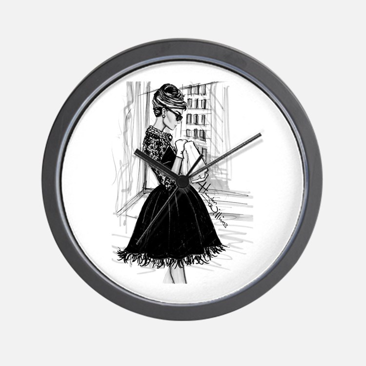 fashion sketch Wall Clock