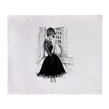 fashion sketch Throw Blanket