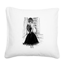 fashion sketch Square Canvas Pillow