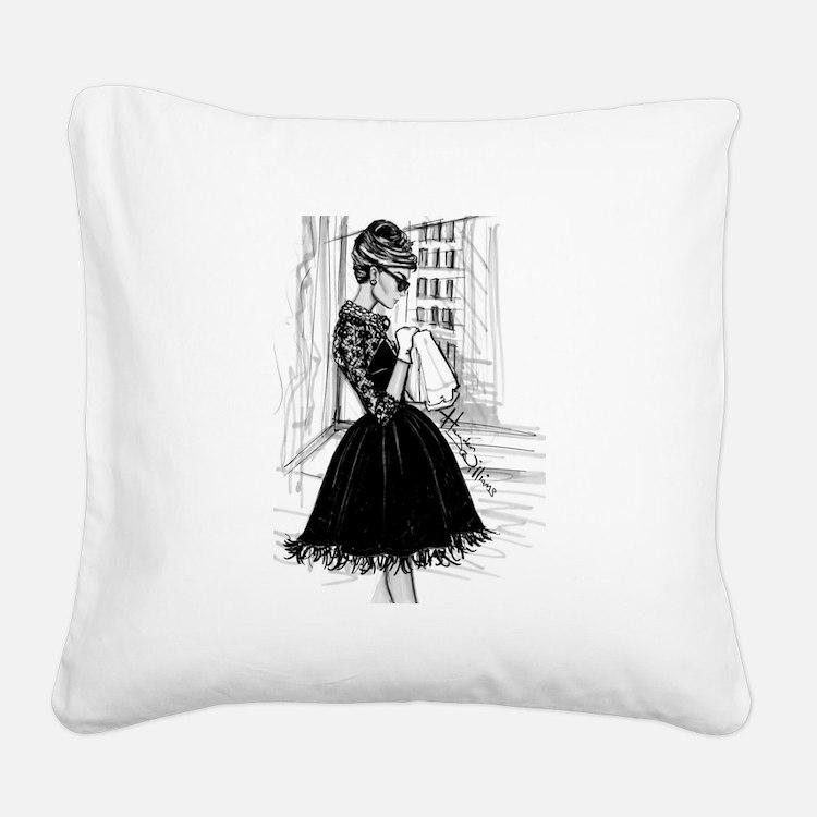 fashion sketch Square Canvas Pillow