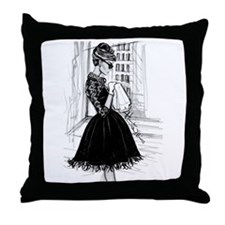 fashion sketch Throw Pillow