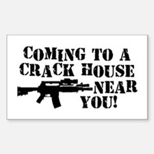 Crack House Rectangle Decal