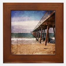 California Pacific Ocean Pier Framed Tile