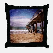 California Pacific Ocean Pier Throw Pillow