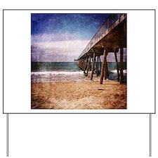 California Pacific Ocean Pier Yard Sign