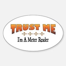 Trust Meter Reader Oval Decal