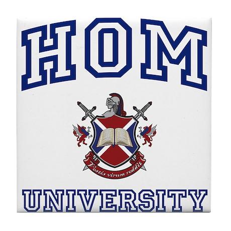 HOM University Tile Coaster