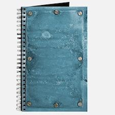 Blue Metal With Screws Journal