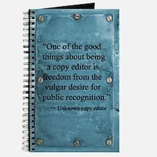 Freedom From The Vulgar Desire Journal