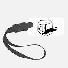 Milk Mustache Luggage Tag
