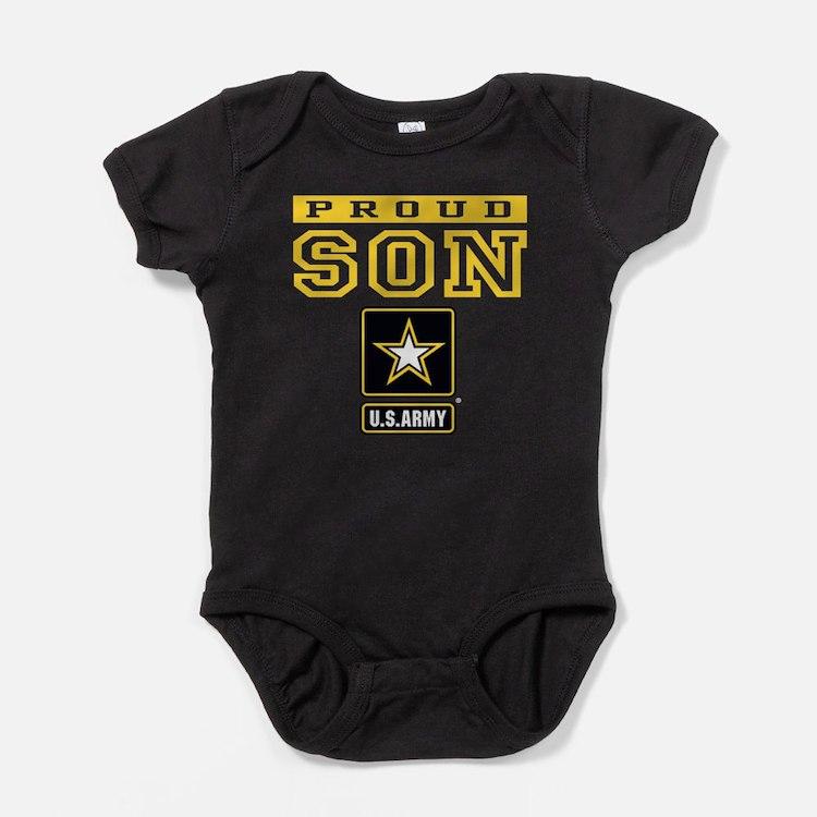 Proud Son U.S. Army Baby Bodysuit
