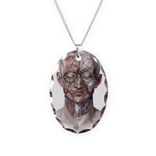 Human Anatomy Face Necklace