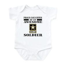 Proud Daughter U.S. Army Infant Bodysuit