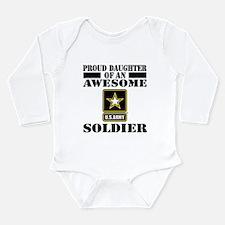 Proud Daughter U.S. Ar Long Sleeve Infant Bodysuit