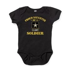 Proud Daughter Of A U.S. Army Soldie Baby Bodysuit
