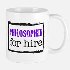 Philosopher for Hire (Purple) Mug