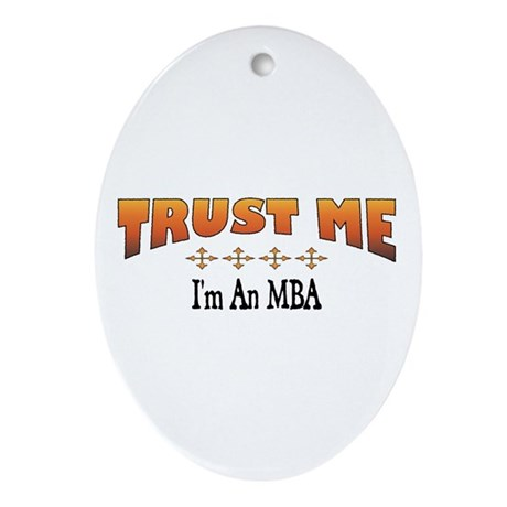 Trust MBA Oval Ornament