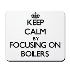 Keep Calm by focusing on Boilers Mousepad