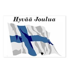 Finnish Flag Christmas Postcards