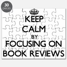 Keep Calm by focusing on Book Reviews Puzzle