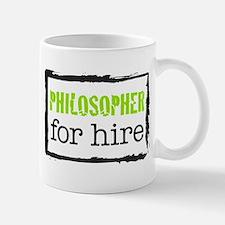 Philosopher for Hire (Green) Mug