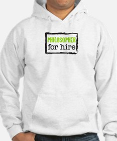 Philosopher for Hire (Green) Hoodie