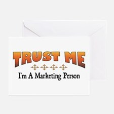 Trust Marketing Person Greeting Cards (Package of