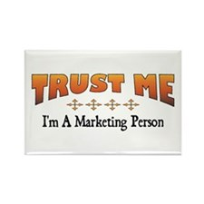 Trust Marketing Person Rectangle Magnet
